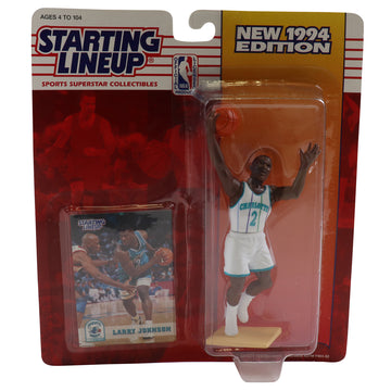 1994 Starting Lineup Charlotte Hornets Larry Johnson Figure