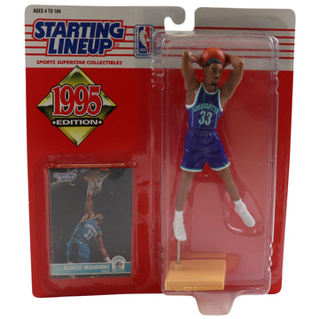 1995 Starting Lineup Charlotte Hornets Alonzo Mourning Figure