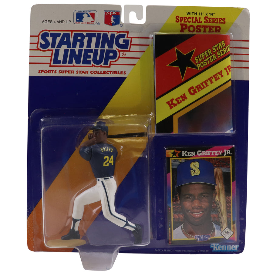 1992 Starting Lineup With Special Series Poster Seattle Mariners Ken Griffey Jr. Figure