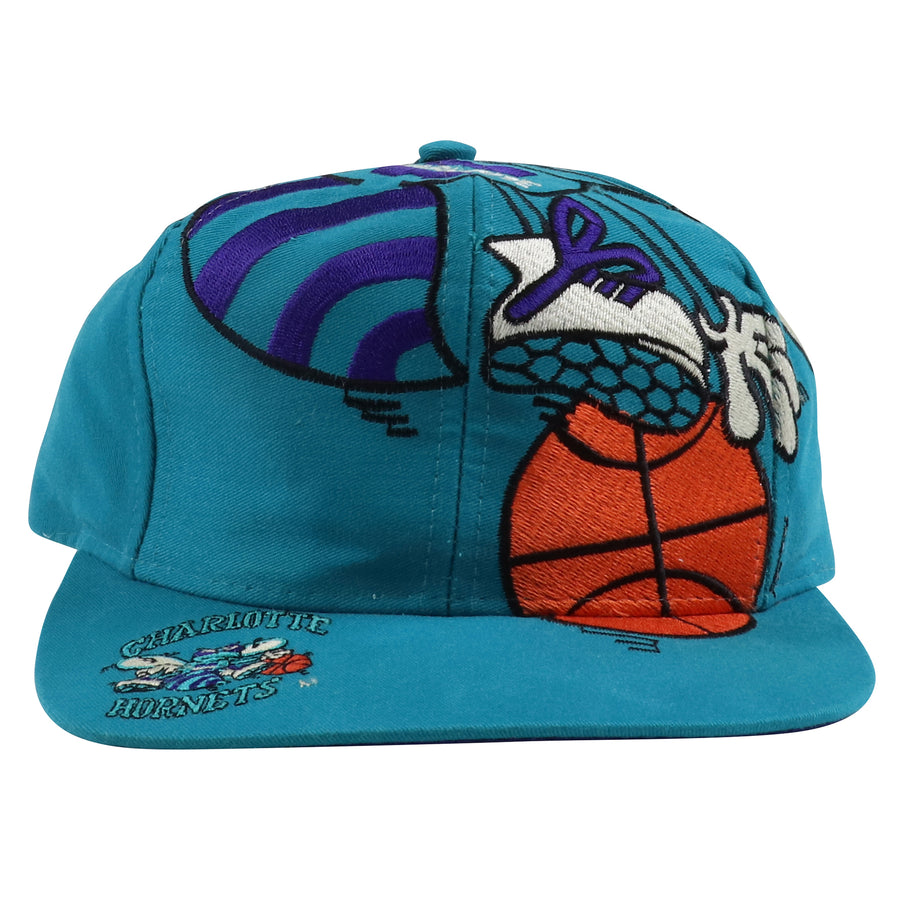 1990s The Game Charlotte Hornets Big Logo Snapback Hat