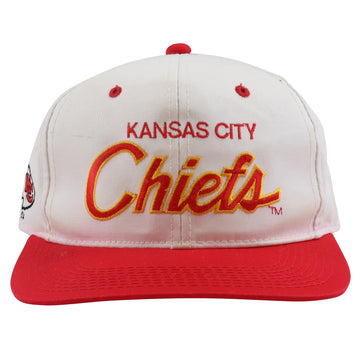 1990s Sports Specialties Kansas City Chiefs Script Snapback Hat
