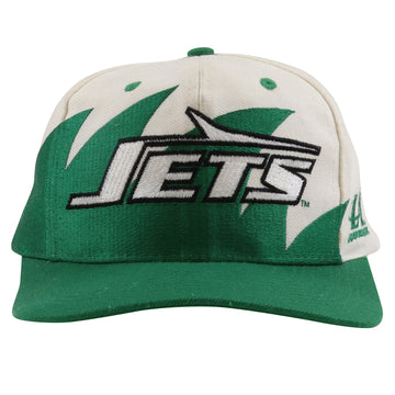 1990s Logo Athletic New York Jets Sharktooth Snapback Hat