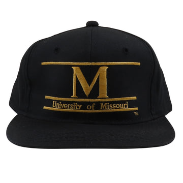 1990s The Game University Of Missouri Split Bar Snapback Hat
