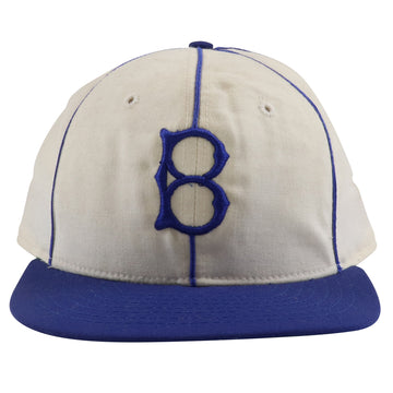 1980s Roman Brooklyn Dodgers Green Under Brim Fitted Hat 7 3/8