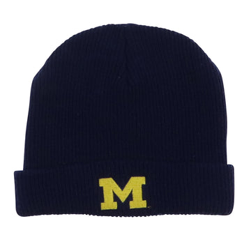 1990s Nike Michigan Wolverines M Logo Knit Beanie