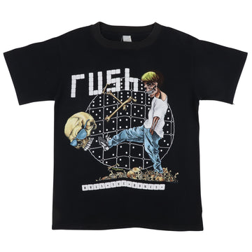 1991 Rush Roll The Bones Pushead Art American Tour T-Shirt S