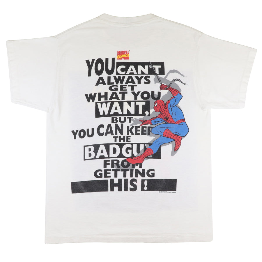 1995 Marvel Comics Spiderman You Can't Always Get What You Want T-Shirt L