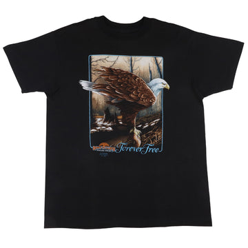 1991 3D Emblem Forever Free Down To Earth Nature Wear T-Shirt L