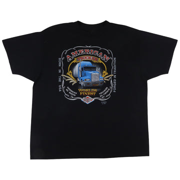 1980s 3D Emblem Truckers Only World's Finest American Trucker T-Shirt XL