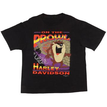 1992 Looney Tunes Harley Davidson Taz On The Prowl T-Shirt L