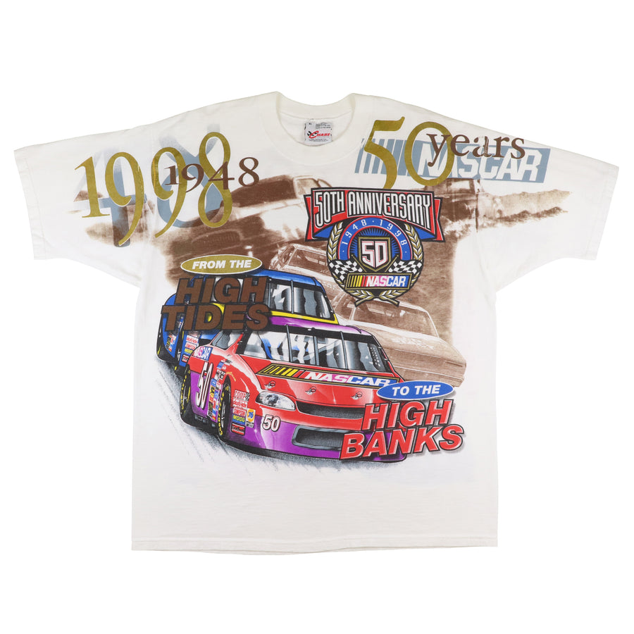 1998 NASCAR 50th Anniversary From High Tides To High Banks T-Shirt XL
