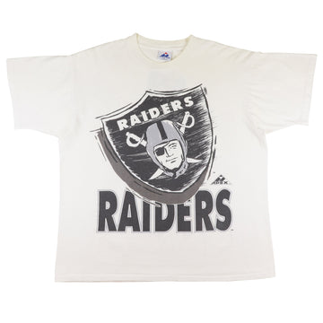 1990s Los Angeles Raiders Oversized Logo T-Shirt XL