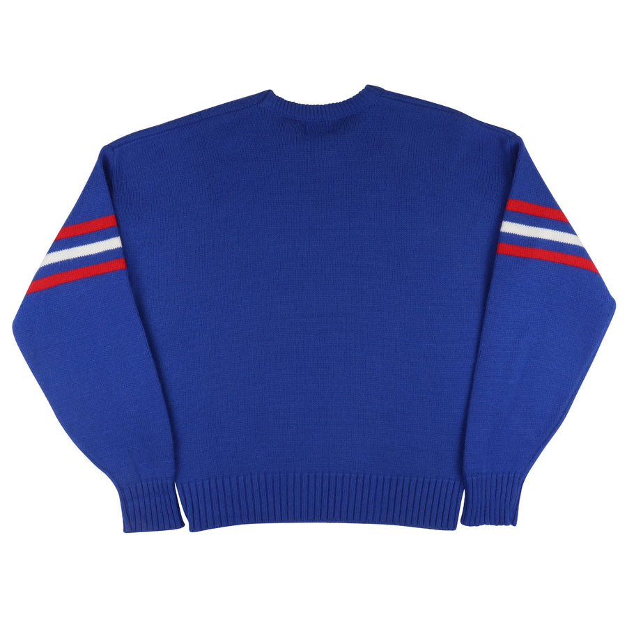 1980s Cliff Engle New York Giants Knit Sideline Sweater L