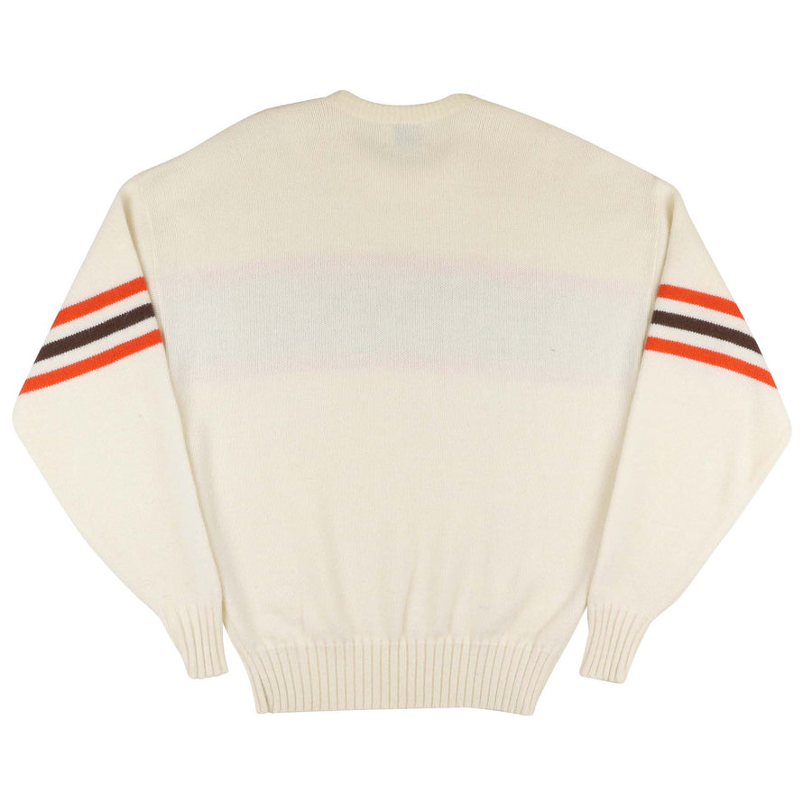1980s Cliff Engle Cleveland Browns Knit Sideline Sweater S