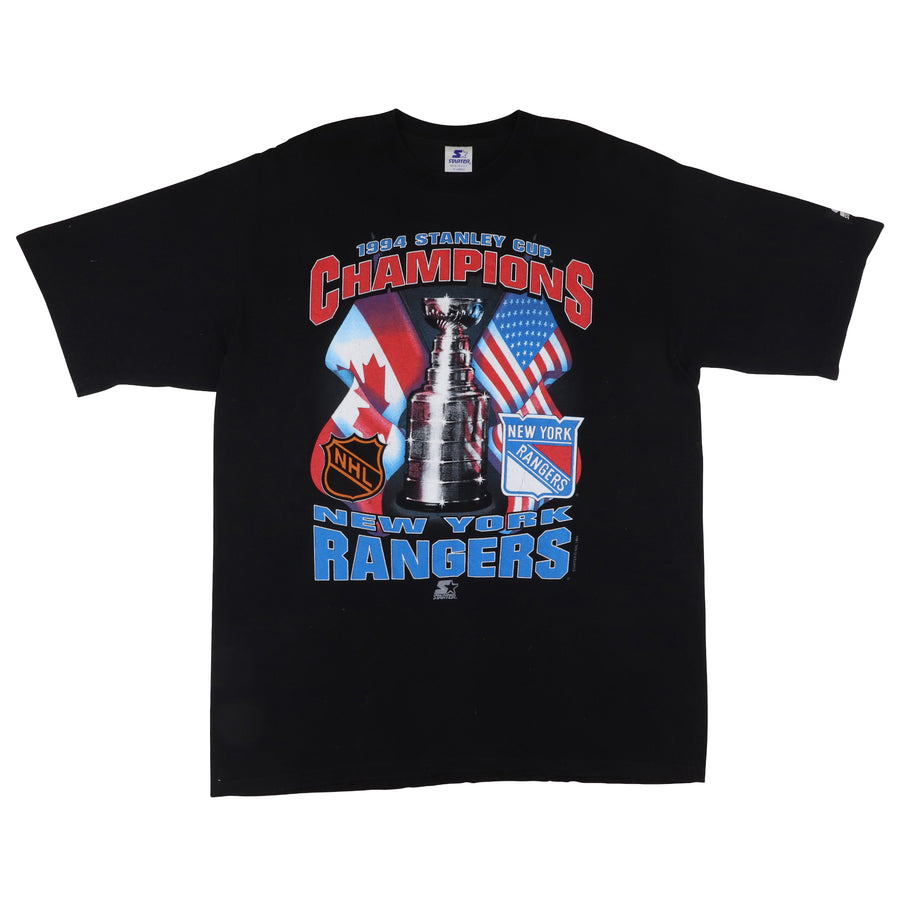 1994 Starter New York Rangers Stanley Cup Champions T-Shirt XL
