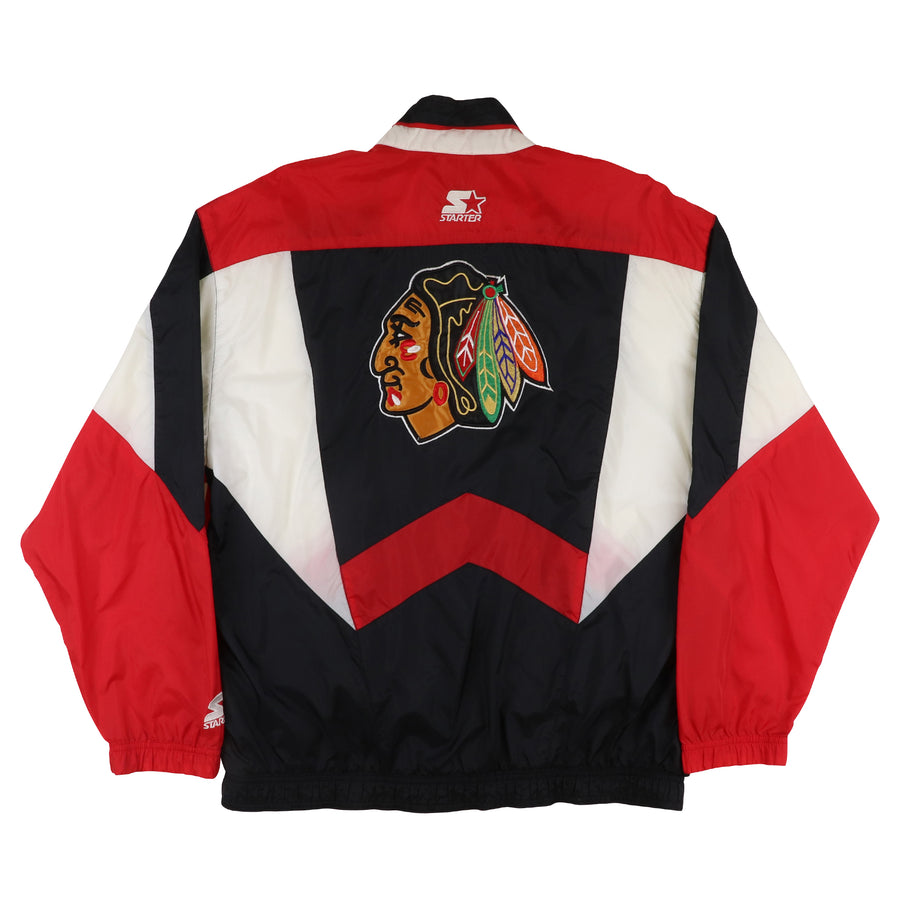 1990s Starter Chicago Blackhawks Full Zip Jacket M