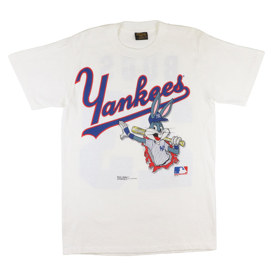 1991 Looney Tunes New York Yankees Bugs Bunny T-Shirt M