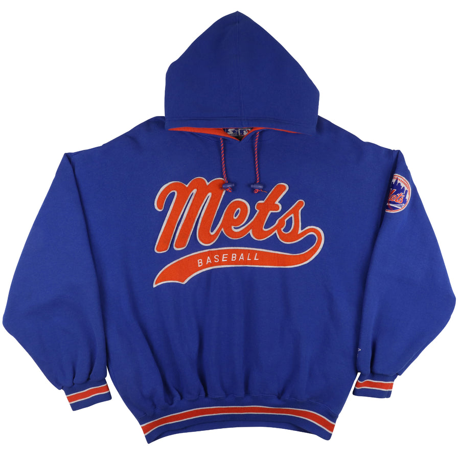 1990s Starter New York Mets Hooded Sweatshirt XL