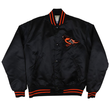 1980s Starter Baltimore Orioles Snap Front Satin Jacket M