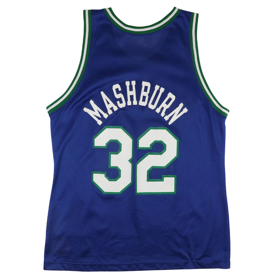 1990s Champion Dallas Mavericks Jamal Mashburn Jersey 44