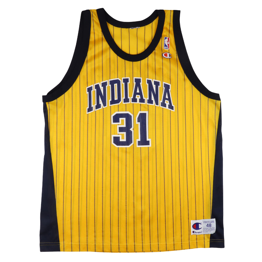 1990s Champion Indiana Pacers Reggie Miller Pinstripe Jersey 48