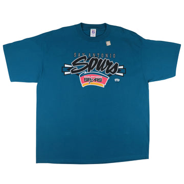 1990s San Antonio Spurs Rainbow Logo T-Shirt 2XL