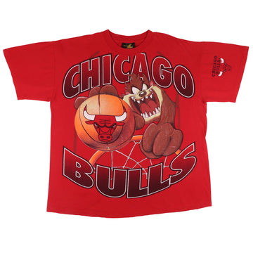 1996 Looney Tunes Chicago Bulls Taz Tasmanian Devil T-Shirt XL