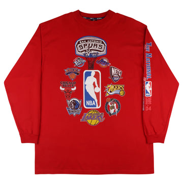 2004 NBA Logos Long Sleeve Bootleg Shirt 2XL