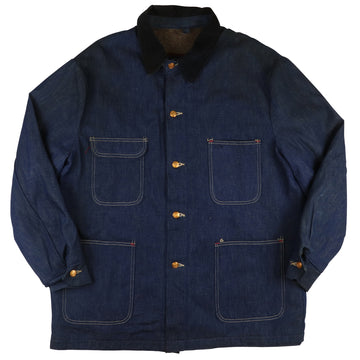 1970s Wrangler Blue Bell Blanket Lined Sanforized Denim Chore Jacket 44