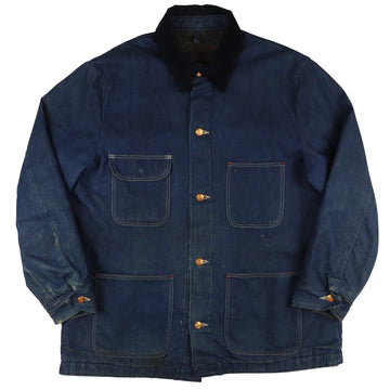 1970s Wrangler Blanket Lined Sanforized Denim Chore Jacket 44
