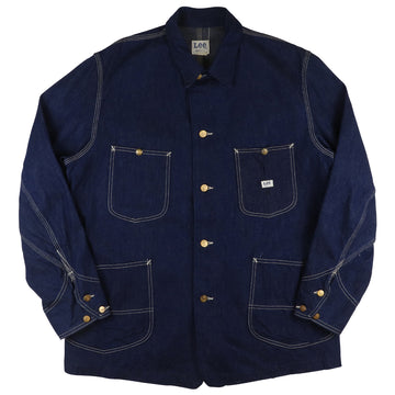 1970s Lee Union Made Sanforized Denim Chore Jacket XL