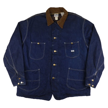 1970s Lee Union Made Alaskan Blanket Lined Sanforized Denim Chore Jacket 46