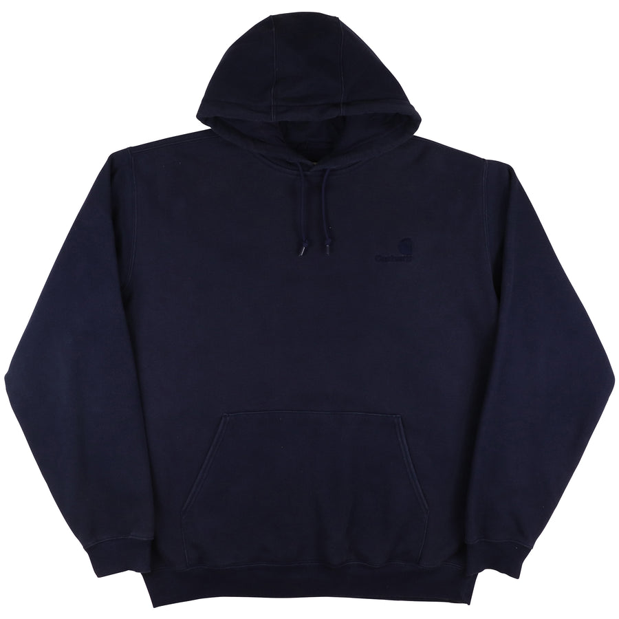2000s Carhartt Tonal Embroidered Logo Hooded Sweatshirt L