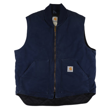 2000s Carhartt Duck Canvas Arctic Quilt Lined Vest XL