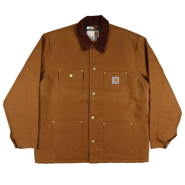 2000s Carhartt Duck Canvas Blanket Lined Chore Jacket L