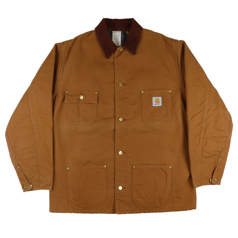 1990s Carhartt Duck Canvas Blanket Lined Chore Jacket 46