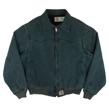1990s Carhartt Duck Canvas Western Style Bomber Jacket L