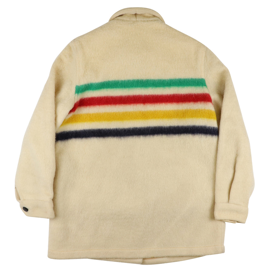 1970s HBC Hudson's Bay Wool Point Blanket Striped Womens Jacket M