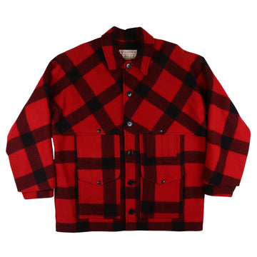 1990s Filson Plaid Wool Double Mackinaw Cruiser Jacket 48