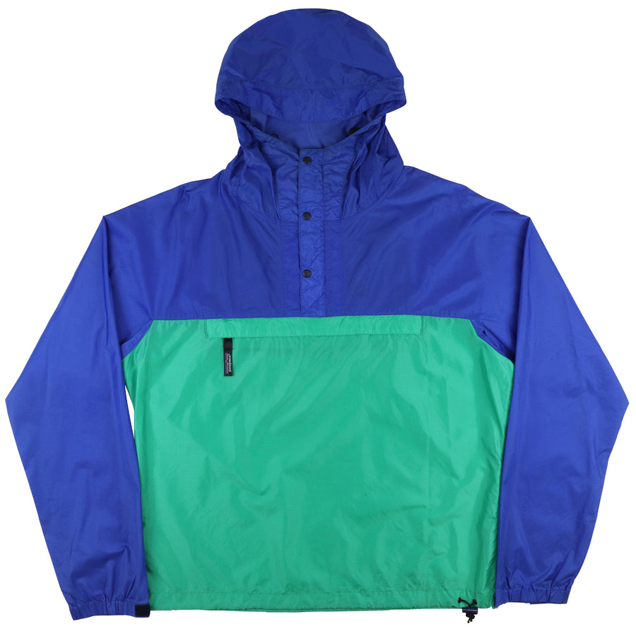 1990s Patagonia Colour Blocked Snap-T Pullover Hooded Jacket M