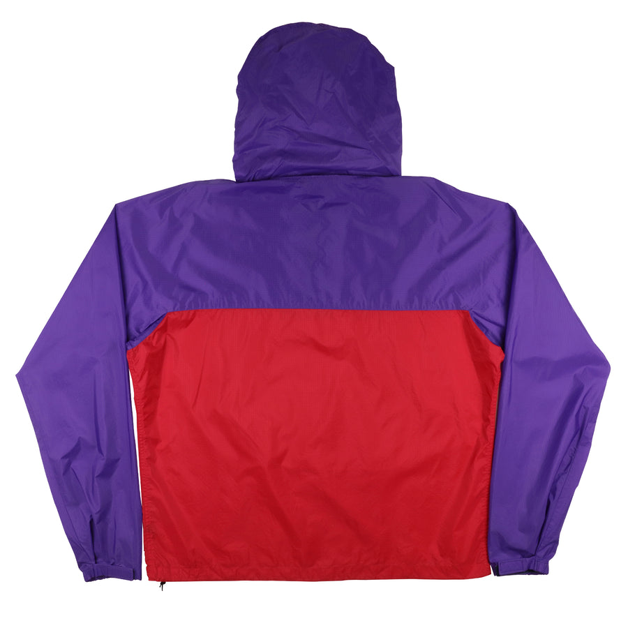 1990s Patagonia Colour Blocked Snap-T Pullover Hooded Jacket L