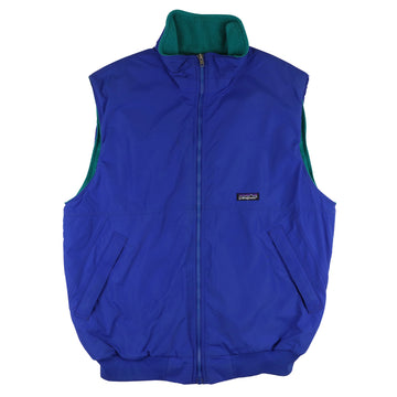 1990s Patagonia Fleece Lined Full Zip Nylon Vest L