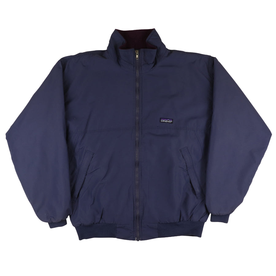 1990s Patagonia Fleece Lined Full Zip Nylon Jacket L