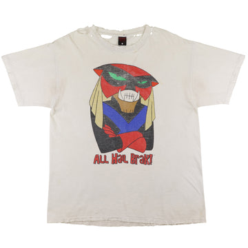 1997 Space Ghost Coast to Coast Cartoon Network All Hail Brak Thrashed T-Shirt XL