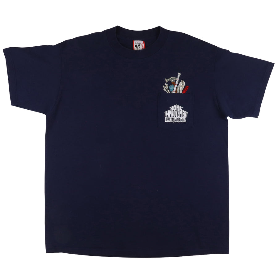 1990s Home Improvement Official Workwear Embroidered Pocket T-Shirt XL