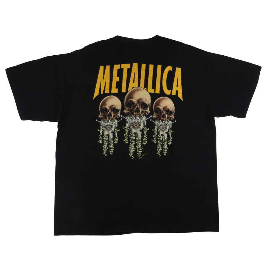 1997 Metallica Fixxer Reload Album Pushead Art T-Shirt XL