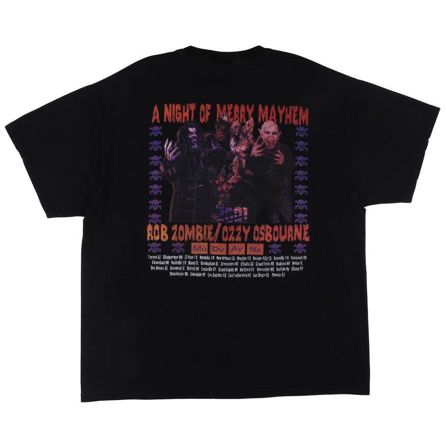 2001 Ozzy Osbourne A Night Of Mayhem With Rob Zombie T-Shirt XL