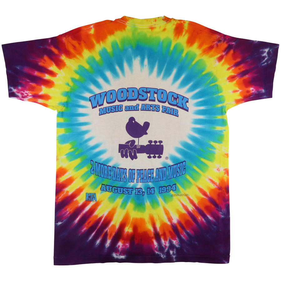 1994 Woodstock Music & Arts Fair Tie Dye T-Shirt XL