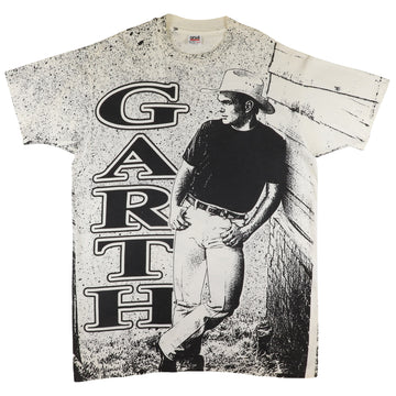 1990s Garth Brooks In The Pieces Mega Print T-Shirt XL