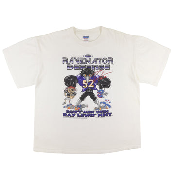 2001 Baltimore Ravens The Ravenator Defense Don't Mess With Ray Lewis T-Shirt XL